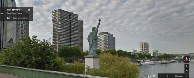 Statue de la Liberté = les répliques découvertes grâce à Google Earth Paris_11