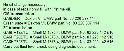 [ BMW e60 530d an 2006 ] vidange BVA Huil_b10