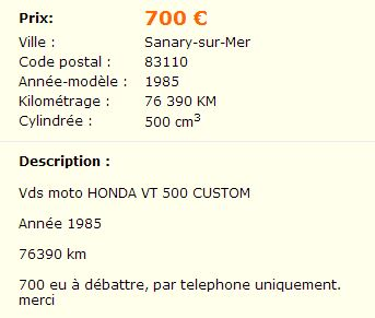 vt 500 à vendre Vtlbc10