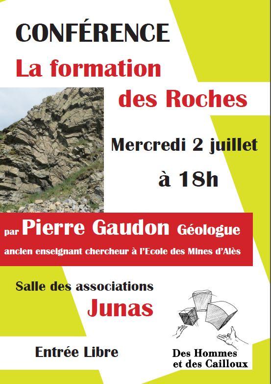 """Conférence """"la formation des roches"""" Entrée libre Affich11"""