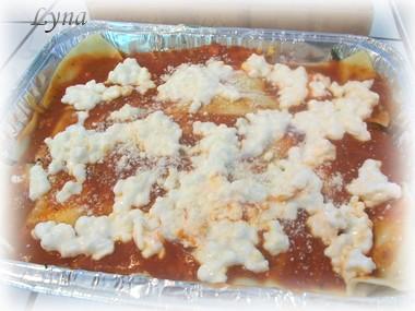 Grosses lasagnes avec pâtes fraîches (photos par étape) Lasagn17