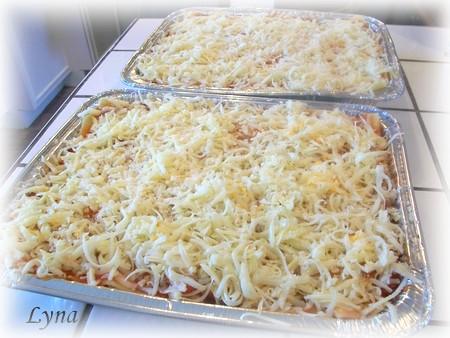 Grosses lasagnes avec pâtes fraîches (photos par étape) Lasagn18