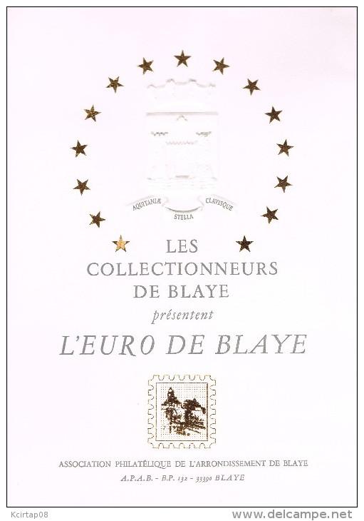 Premiers billets en Ecu/Euro Blaye110