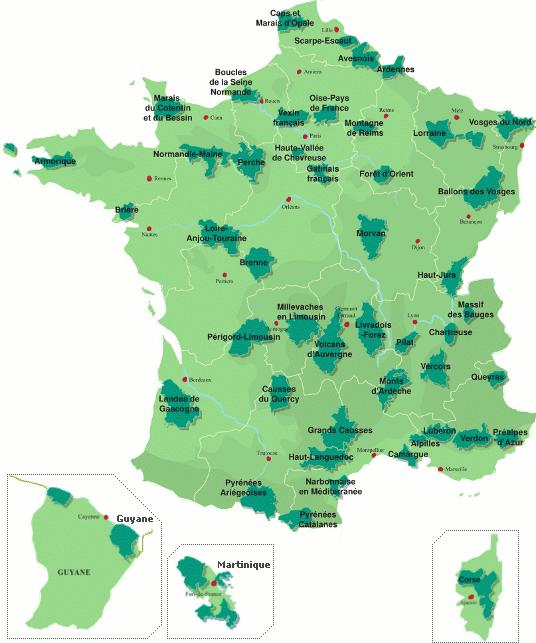 46 Parcs naturels régionaux en France Parcs11