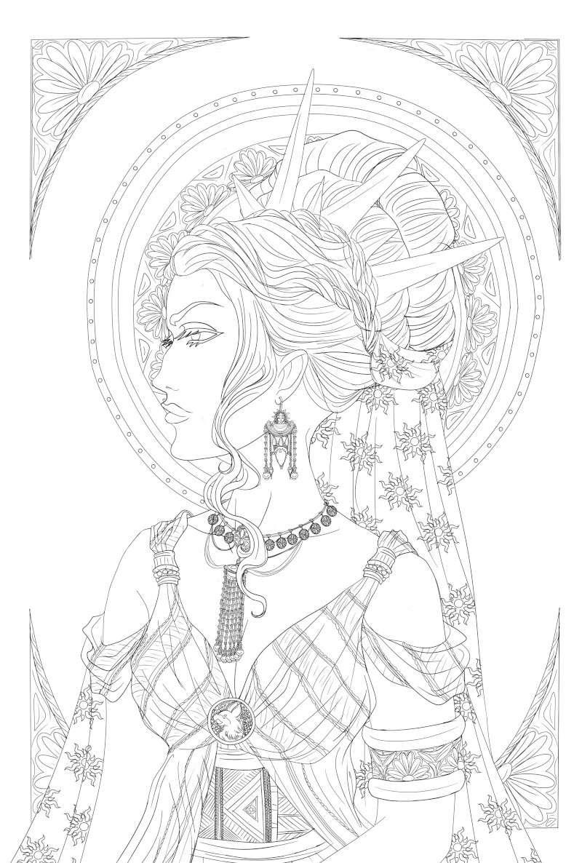 Dessins en vrac, univers de Louna >w< Profil13