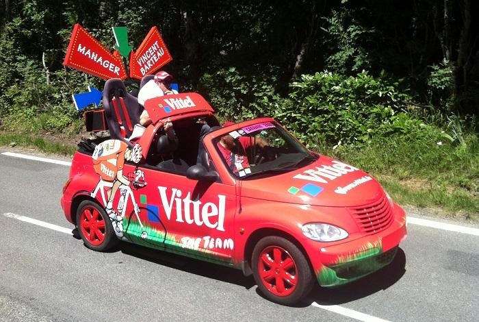 caravane publicitaire vittel Tour de France 2014   Vittel10
