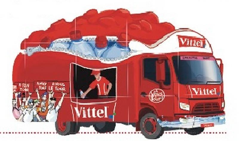 caravane publicitaire vittel Tour de France 2014   Vittel11