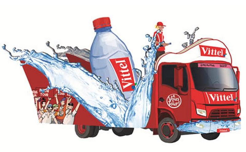 caravane publicitaire vittel Tour de France 2014   Vittel13