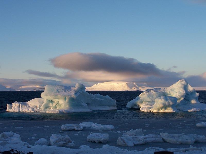 Арктика. Расположение метеостанций. 111