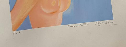 Lithographie signée Roger Grass , résolu Captur45