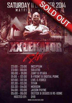 [ XXLERATOR Raw - 11 Octobre 2014 - Club Matrixx - NL ] 10262110
