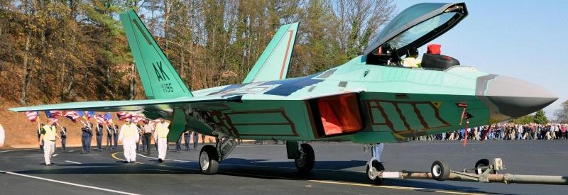 """F-22 """"tout nu"""" F22col10"""