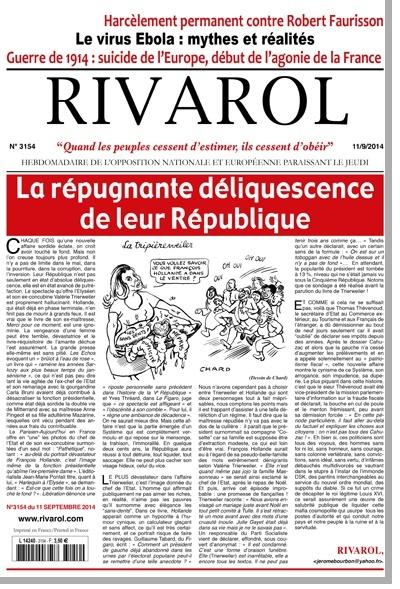 Chaque vendredi Rivarol. Homepa10