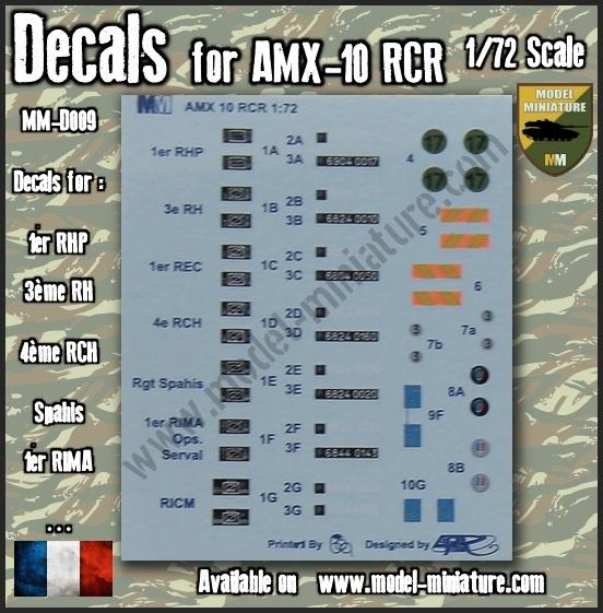 vbci - Nouveautés Model Miniature: Decals VBCI, Buffalo, AMX-10 RCR / Separ chez Model Mniature 10_rcr10