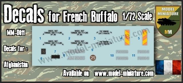 vbci - Nouveautés Model Miniature: Decals VBCI, Buffalo, AMX-10 RCR / Separ chez Model Mniature Buffal10