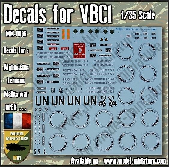 vbci - Nouveautés Model Miniature: Decals VBCI, Buffalo, AMX-10 RCR / Separ chez Model Mniature Decals10