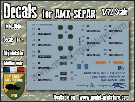 vbci - Nouveautés Model Miniature: Decals VBCI, Buffalo, AMX-10 RCR / Separ chez Model Mniature Separ10