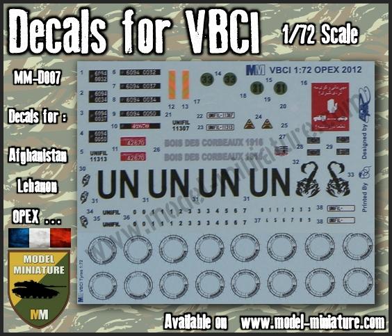 vbci - Nouveautés Model Miniature: Decals VBCI, Buffalo, AMX-10 RCR / Separ chez Model Mniature Vbco_o10