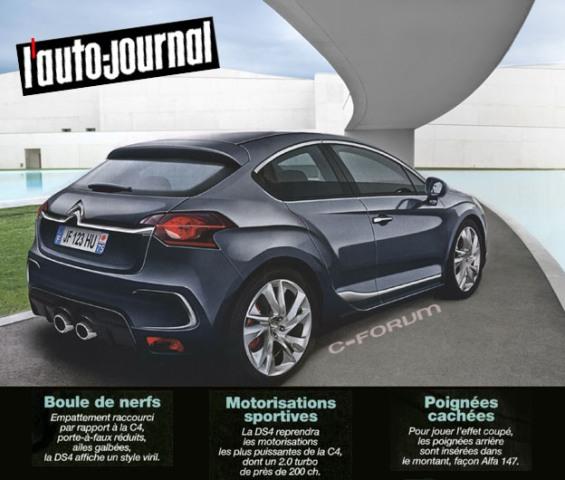 """Nouvelle gamme """"DS"""" de Citroën Illust10"""