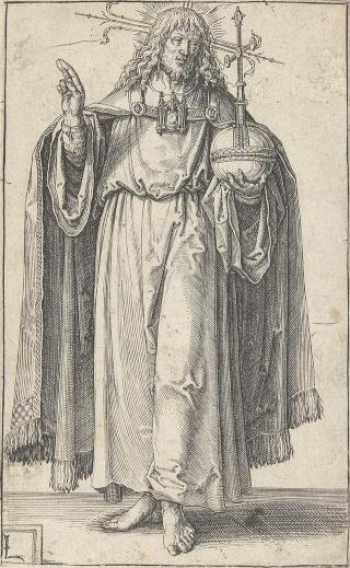Salvator Mundi · Mater Salvatoris / Jesucristo crucificado y oración, S.XVII (RM.SXVII-O329) Lucas_11