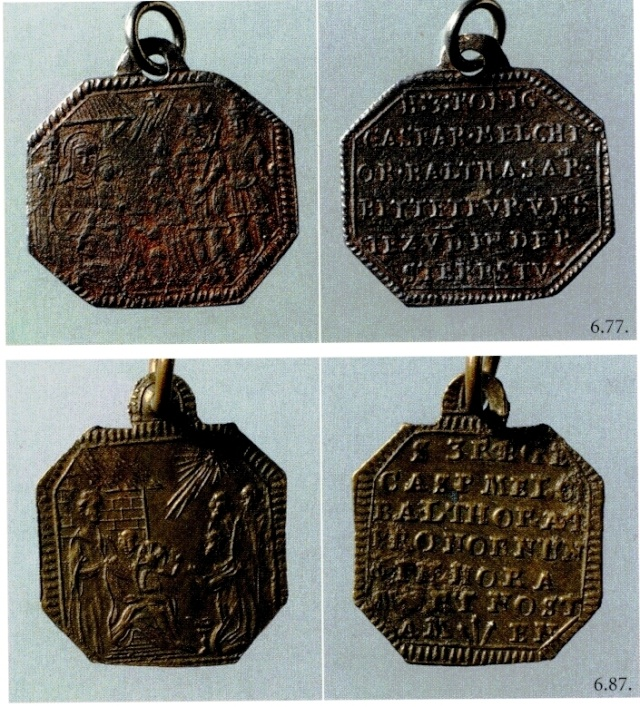 reyes - Adoración de los Reyes Magos / Inscripcion - s. XVIII Medail10