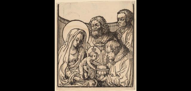 Salvator Mundi · Mater Salvatoris / Jesucristo crucificado y oración, S.XVII (RM.SXVII-O329) Van_le11