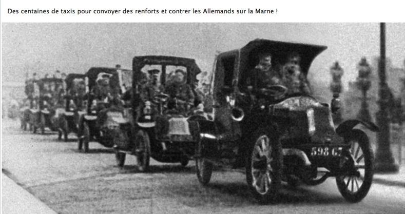 L'automobile dans la guerre Taxi-m13