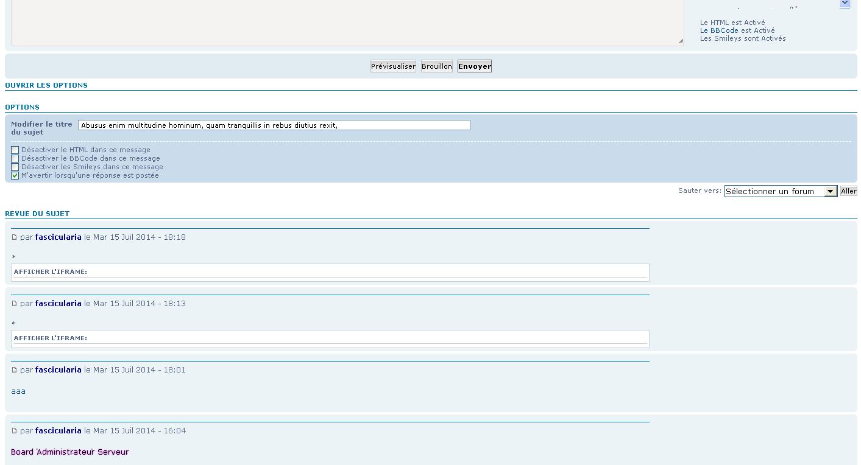 [PHPBB3] Mettre les options du message étendu dans un slide Apras10