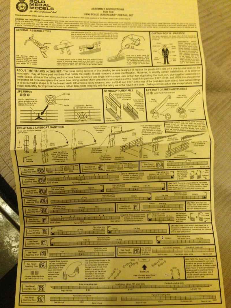 construction du queen mary 2 au 1/400 de chez revell - Page 3 Img_0712