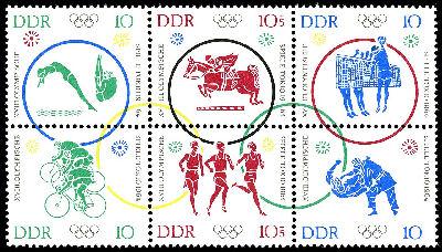 Olympische Spiele der Deutschen Post der DDR  Bild810