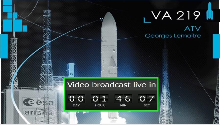 """Lancement Ariane 5 - VA219 / ATV-5 """"Georges Lemaître"""" - 29 juillet 2014 - Page 4 Sans_t18"""