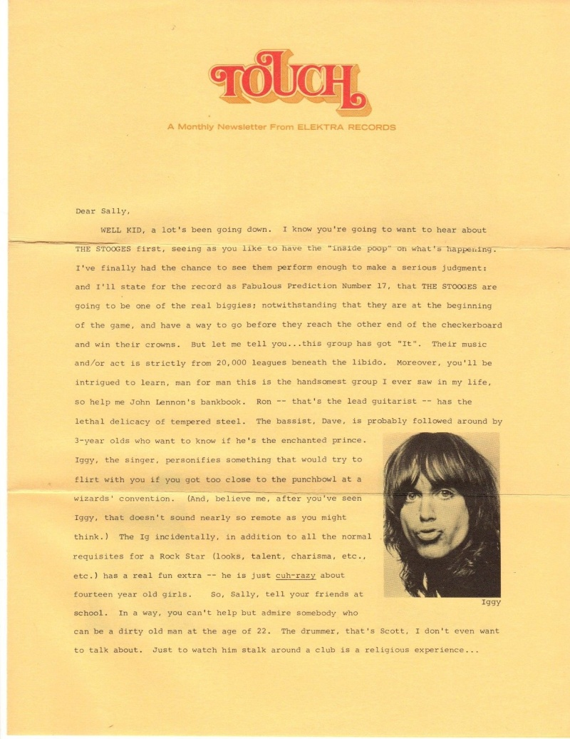 TOUCH - Elektra Monthly Newsletter 1969  Touch11