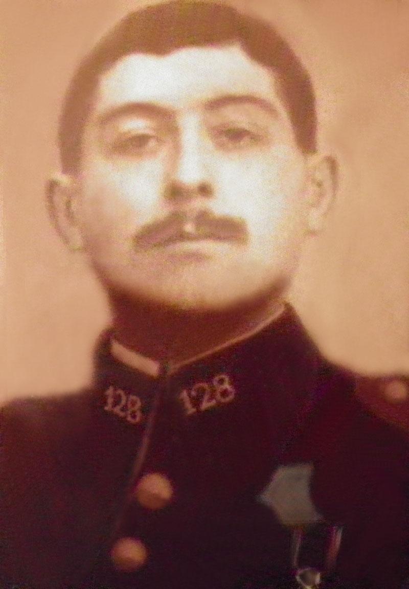 Un soldat de la grande guerre: portrait retouché. Victor10