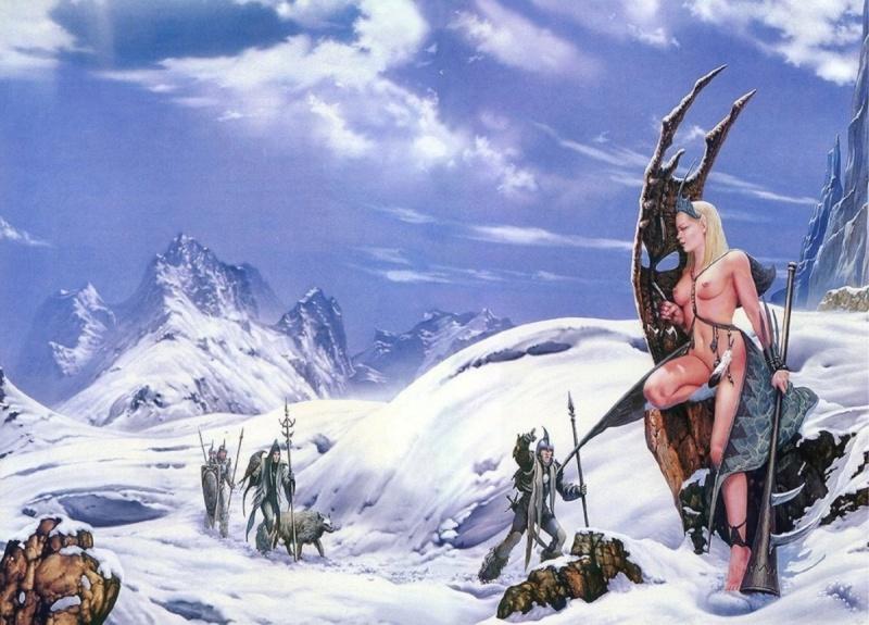 """Ilustraciones de """"Espada y Brujería"""" (NO Conan) 20050311"""