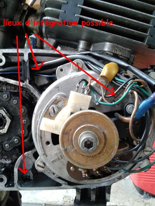 adaptation régulateur d'alternateur automobile sur moto 12V 810