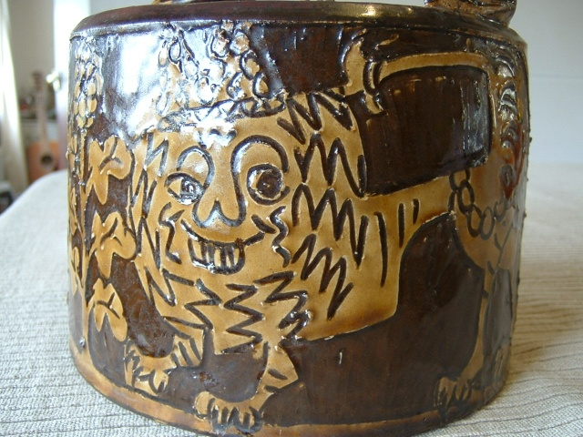 Sheen slipware pottery - William Lloyd, Salisbury Malver11