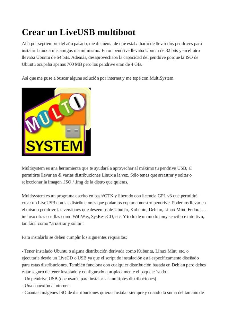 Crear un LiveUSB multiboot 125