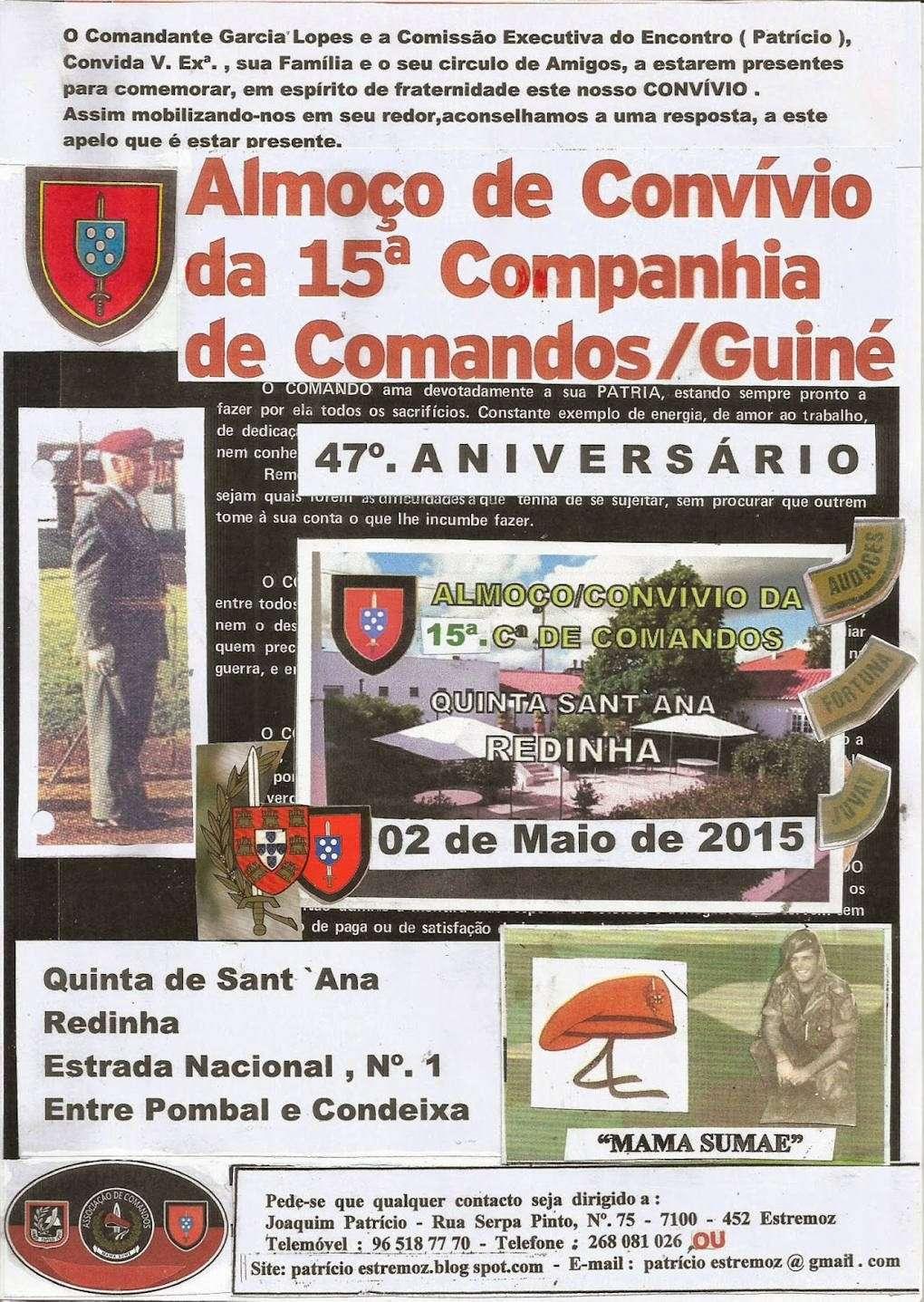 Almoço Convívio e Comemoração do 47.º Aniversário da 15.ª Companhia de Comandos - 02Mai2015 01_15c10