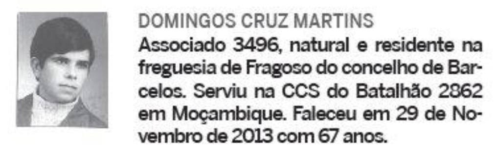 Notas de óbito: Veteranos da Guerra do Ultramar, publicadas no jornal ELO, da ADFA, de Março de 2014 01domi10