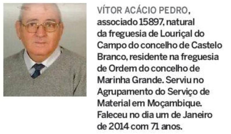 Notas de óbito: Veteranos da Guerra do Ultramar, publicadas no jornal ELO, da ADFA, de Abril de 2014 01vito10