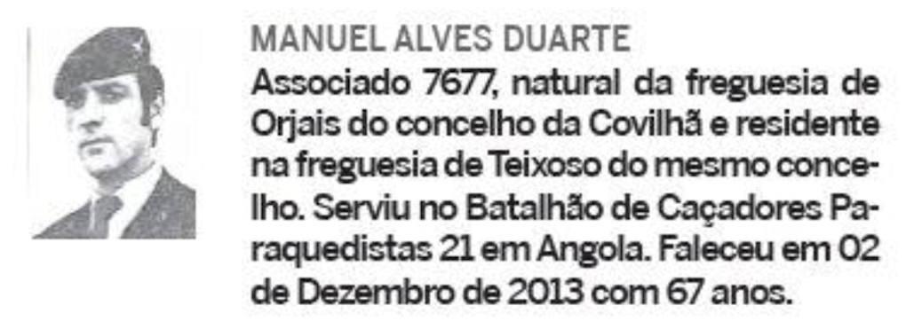 Notas de óbito: Veteranos da Guerra do Ultramar, publicadas no jornal ELO, da ADFA, de Março de 2014 02manu10