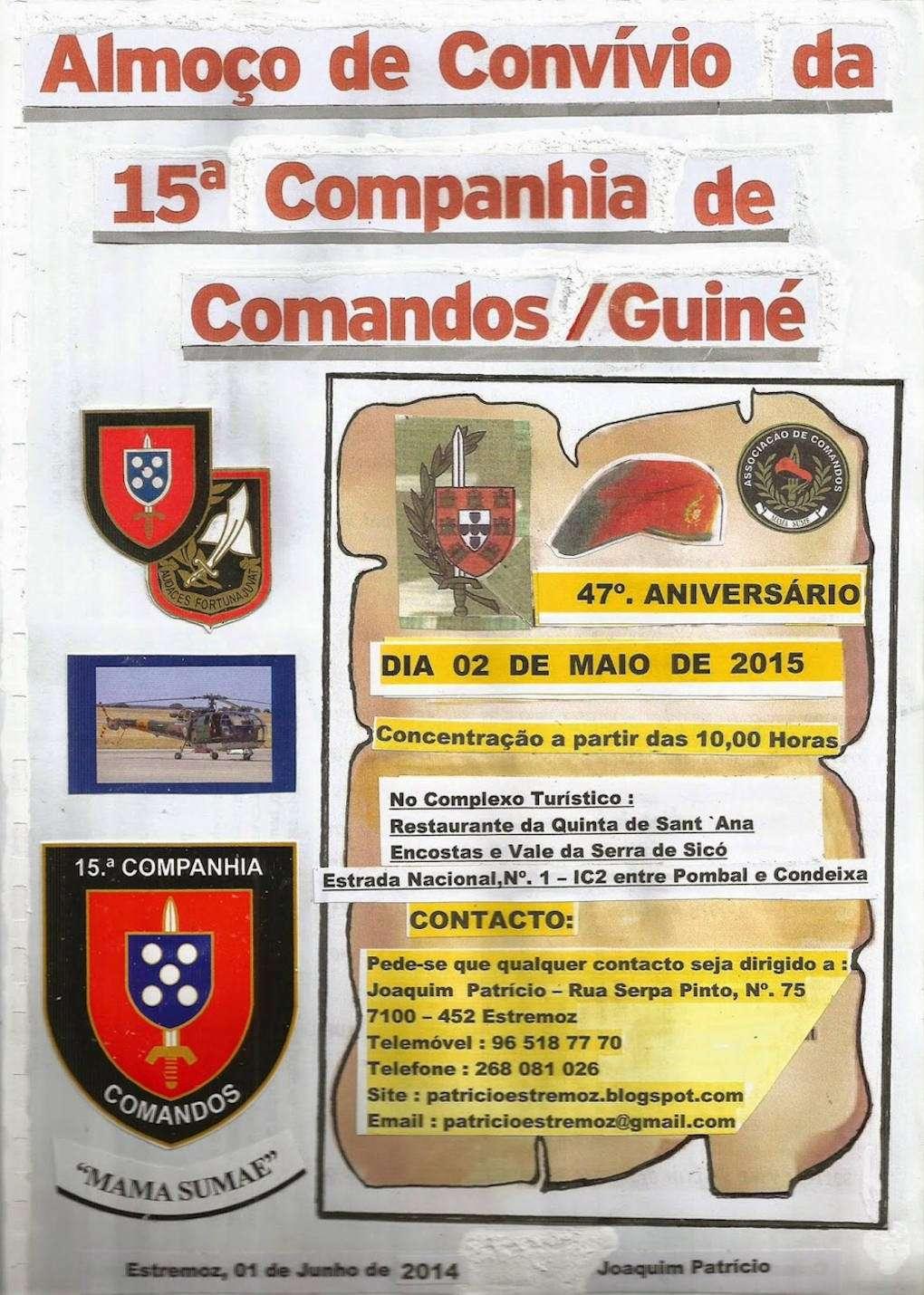 Almoço Convívio e Comemoração do 47.º Aniversário da 15.ª Companhia de Comandos - 02Mai2015 03_15c10