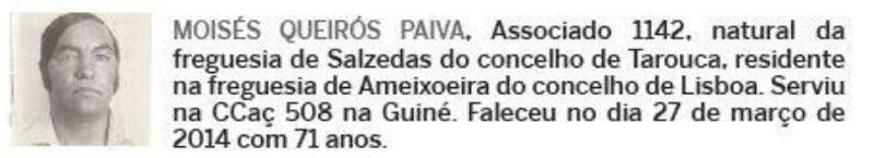 Notas de óbito: Veteranos da Guerra do Ultramar, publicadas no jornal ELO, da ADFA, de Julho de 2014 03mois10