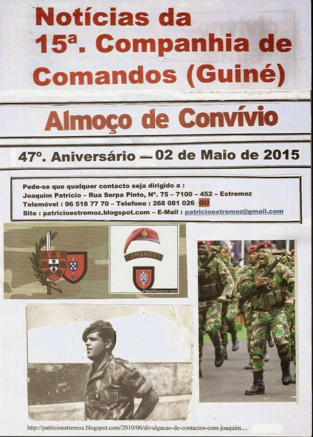 Almoço Convívio e Comemoração do 47.º Aniversário da 15.ª Companhia de Comandos - 02Mai2015 04_15c10