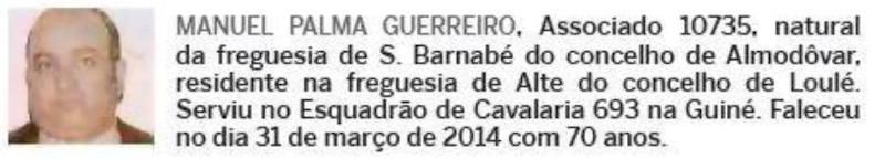 Notas de óbito: Veteranos da Guerra do Ultramar, publicadas no jornal ELO, da ADFA, de Julho de 2014 04manu11