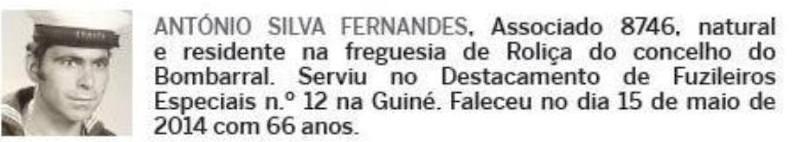 Notas de óbito: Veteranos da Guerra do Ultramar, publicadas no jornal ELO, da ADFA, de Julho de 2014 07anty10