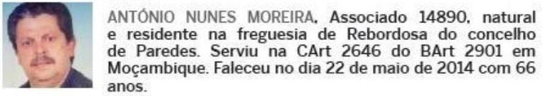 Notas de óbito: Veteranos da Guerra do Ultramar, publicadas no jornal ELO, da ADFA, de Julho de 2014 09anty10