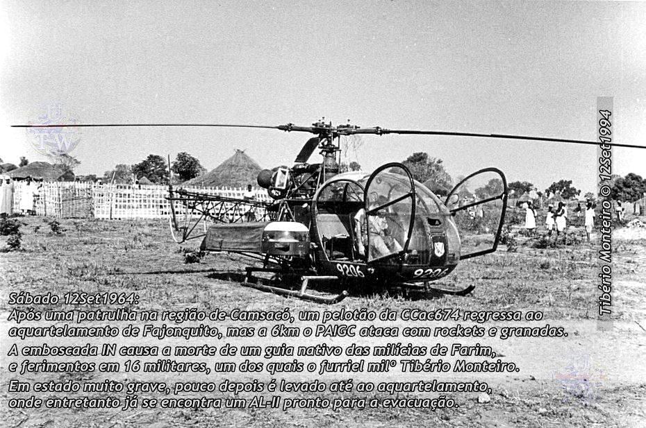 Aconteceu há 50 anos - 12Set1964 > 12Set2014 - Furriel Mil.º Tibério Monteiro, da CCac674 (Guiné) 19640910
