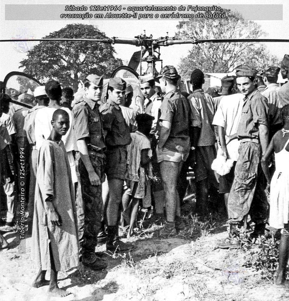 Aconteceu há 50 anos - 12Set1964 > 12Set2014 - Furriel Mil.º Tibério Monteiro, da CCac674 (Guiné) 19640912