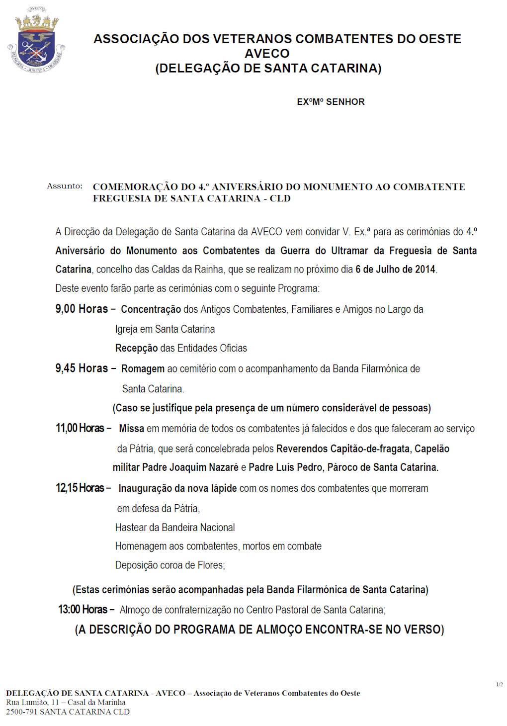 06Jul2014: AVECO - Comemoração do 4.º Aniversário do Monumento ao Combatente Aveco_10